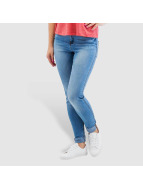 Noisy May Skinny Jeans nmLucy Normal Waist Super Slim niebieski
