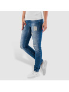 Noisy May Skinny Jeans nmLucy Super Slim Rip Patch niebieski