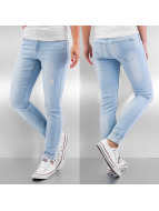 Noisy May Skinny Jeans nmLucy Destroyed niebieski