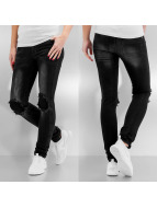 Noisy May Skinny jeans nmLucy Normal Waist New Super Slim zwart