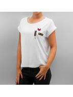 Noisy May T-Shirt nmBattle Cap Sleeve blanc