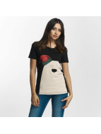 Noisy May T-Shirt nmNovelty Polarbear schwarz