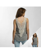 Noisy May Top nmMaggi Crochet gris
