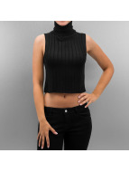 Noisy May Tops nmAndrea Roll Neck Cropped czarny