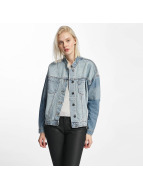 Noisy May Välikausitakit nmDash Back Print Denim sininen