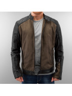 One Public Демисезонная куртка Pu Sleeves коричневый