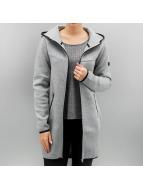 Only Пальто onlLilo Long Hood серый