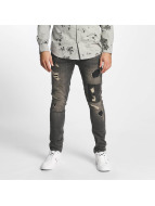 Only & Sons Straight fit jeans onsLoom Destroy Patch grijs