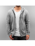 Only & Sons Sweat à capuche zippé onsFiske gris