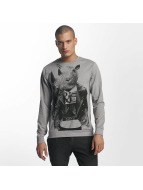 Only & Sons T-Shirt manches longues onsVIll Animal Print gris