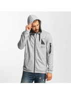 Only & Sons onsCadby Zip Hoody Light Grey Melange