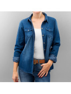 Only Blouse/Chemise onlPop It Fittet Original Denim bleu