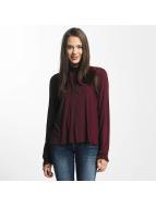 Only Blouse onlNiella Loose Mesh rood