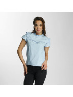 Only Bluse onlOzzy Small Frill blau