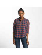 Only Bluzka/Tuniki onlElif 3/4 Sleeve Check Denim niebieski