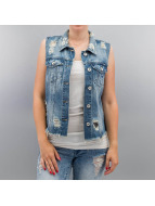 Only Bodywarmer onlRia Cropped Denim blauw