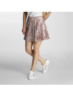 Only Falda onlPunti Velour Skater rosa