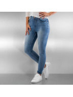 Only Høy midje Jeans onlPiper Highwaisted Ankle blå