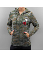 Only Hoodies con zip onlCamoflage Finley mimetico