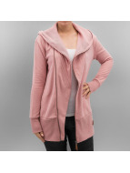 Only Hoodies con zip onlVega Dream Long rosa chiaro
