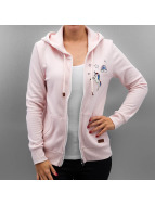 Only Hoodies con zip onlFinley Unicorn rosa chiaro