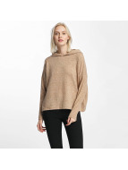 Only onlIda Knit Hoody Indian Tan