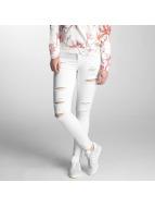 Only Jeans slim fit onlKendell Ank Zip Destroy bianco