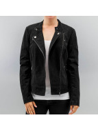 Only Leather Jacket onlEffort black