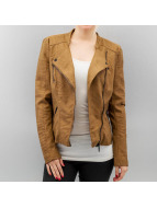 Only Leather Jacket onlAva Faux Leather brown