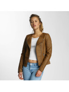 Only Leather Jacket onlCarly Faux brown