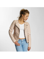 Only Leather Jacket onlCarly Faux rose