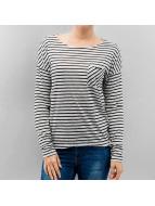 Only Longsleeves onlClare Pocket Stripes beyaz