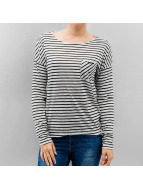 Only Longsleeves onlClare Pocket Stripes bialy