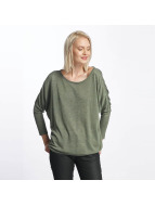 Only Maglia onlPolly 7/8 Knit verde