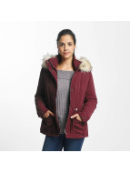 Only Manteau hiver onlStarlight Fur Parka rouge
