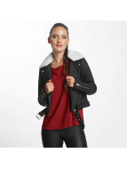 Only onlDanielle Faux Leather Biker Jacket Black