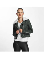 Only onlDanielle Faux Leather Biker Jacket Jet Set