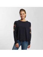 Only Pullover onlDarma Flower Embroidery blau