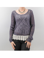 Only Pullover Vanessa Short gris