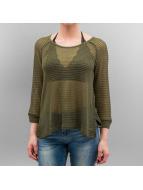 Only Pullover onlElvira Lace grün