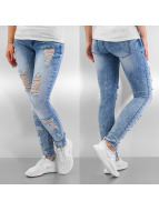 Only Skinny Jeans onlCoral Mega Destroyed blau