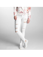 Only Skinny Jeans onlKendell Ank Zip Destroy weiß