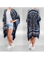 Only Strickjacke onlIlia Weaved Poncho blau