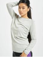 Only onlMila Lacy Long Sweatshirt Light Grey Melange