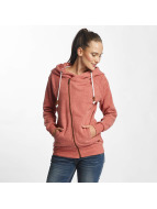 Only Sweat capuche zippé onlLove rouge