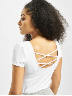 Only onlLive Love Lace Up Top White