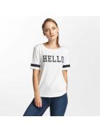 Only T-paidat onlMia Hello valkoinen