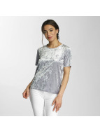 Only T-shirt onlPunti Velour argento