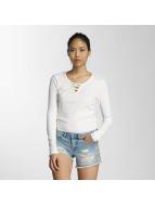 Only T-Shirt manches longues onlRib blanc