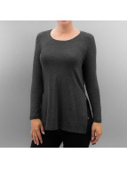Only T-Shirt manches longues onlJewel Long Slit gris